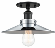 Matteo X46111BKCH Bulstrode's Workshop Modern Black / Chrome 10.25  Home Ceiling Lighting