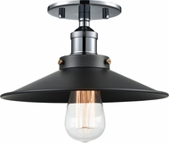 Matteo X46111CHBK Bulstrode's Workshop Contemporary Chrome / Black 10.25  Overhead Light Fixture
