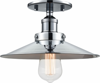 Matteo X46111CHCH Bulstrode's Workshop Modern Chrome 10.25  Overhead Lighting Fixture