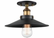Matteo X46111WGBK Bulstrode's Workshop Contemporary Warm Gold / Black 10.25  Ceiling Lighting