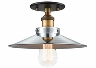 Matteo X46111WGCH Bulstrode's Workshop Modern Warm Gold / Chrome 10.25  Ceiling Light