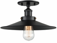 Matteo X46112BKBK Bulstrode's Workshop Contemporary Black 11.75  Ceiling Light Fixture