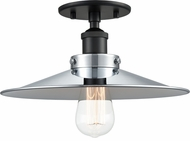 Matteo X46112BKCH Bulstrode's Workshop Modern Black / Chrome 11.75  Ceiling Lighting Fixture