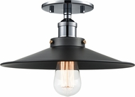 Matteo X46112CHBK Bulstrode's Workshop Contemporary Chrome / Black 11.75  Ceiling Light Fixture
