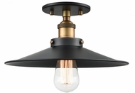 Matteo X46112WGBK Bulstrode's Workshop Contemporary Warm Gold / Black 11.75  Flush Mount Lighting