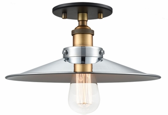 Matteo X46112WGCH Bulstrode's Workshop Modern Warm Gold / Chrome 11.75  Overhead Lighting
