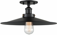 Matteo X46113BKBK Bulstrode's Workshop Contemporary Black 14  Flush Mount Light Fixture