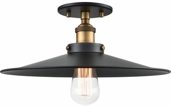 Matteo X46113WGBK Bulstrode's Workshop Contemporary Warm Gold / Black 14  Home Ceiling Lighting