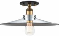 Matteo X46113WGCH Bulstrode's Workshop Modern Warm Gold / Chrome 14  Overhead Light Fixture