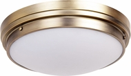 Matteo X46302BG Fresh Colonial Contemporary Brushed Gold 13.5  Overhead Lighting Fixture