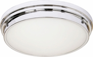 Matteo X46303CH Fresh Colonial Modern Chrome 17  Flush Mount Lighting