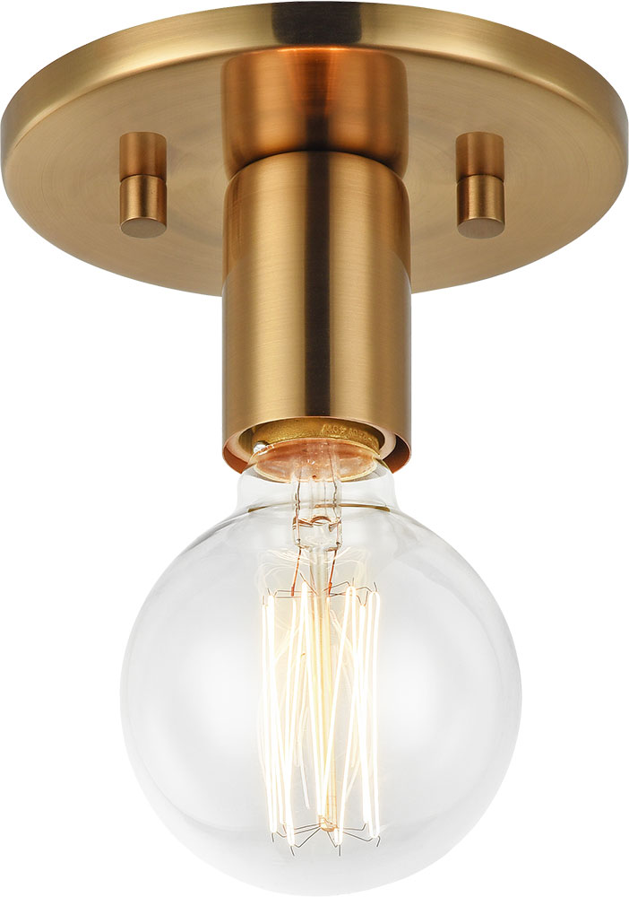 Matteo X54911ag Kasa Contemporary Aged Gold Br Flush Mount Ceiling Light Fixture