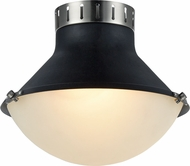 Matteo X66302MBBN Notting Modern Matte Black & Brushed Nickel 12  Ceiling Light