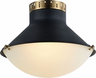 Matteo X66303MBAG Notting Contemporary Matte Black & Aged Gold Brass 16  Ceiling Light Fixture