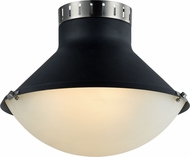Matteo X66303MBBN Notting Modern Matte Black & Brushed Nickel 16  Ceiling Lighting Fixture