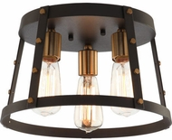 Matteo X72003MBAG Beaton Contemporary Matte Black and Aged Gold Brass Ceiling Light