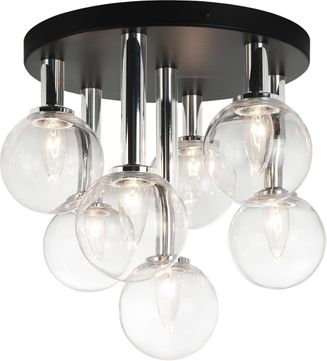 Matteo X75307BKCL Stellar Contemporary Black Flush Lighting