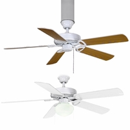 Matthews AM-USA America Gloss White Fluorescent 52  5 Blade Builder Paddle Ceiling Fan