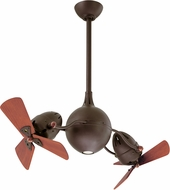 Matthews AQ-TB-WD Acqua Contemporary Textured Bronze Halogen Interior/Exterior 38  Dual Rotational Ceiling Fan