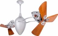 Matthews AR-BN-WD Ar Ruthiane Contemporary Brushed Nickel Interior/Exterior 48  Rotational Home Ceiling Fan with Mahogany Blades