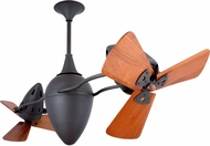 Matthews AR-BZ-WD Ar Ruthiane Contemporary Bronze 48  Rotational Ceiling Fan with Mahogany Blades