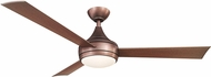 Matthews DA-BB Donaire Modern Textured Bronze LED Interior/Exterior 52  Paddle-style Ceiling Fan
