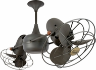 Matthews DD-BZ-MTL Duplo-Dinamico Contemporary Bronze 36  Rotational Ceiling Fan with Metal Blades