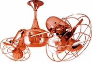 Matthews DD-ORANGE-MTL Duplo-Dinamico Contemporary Orange Interior/Exterior 36  Rotational Home Ceiling Fan with Metal Blades