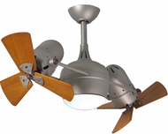 Matthews DGLK-BN-WD Dagny Modern Brushed Nickel Interior/Exterior 41  Dual Rotational Ceiling Fan