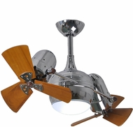 Matthews DGLK-CR-WD Dagny Modern Polished Chrome Interior/Exterior 41  Dual Rotational Ceiling Fan