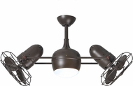 Matthews DGLK-TB-MTL Dagny Contemporary Textured Bronze Interior/Exterior 41  Dual Rotational Ceiling Fan