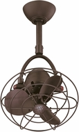 Matthews DI-TB-MTL Diane Contemporary Textured Bronze Interior/Exterior 16  Single Oscillating Directional Ceiling Fan