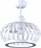 Matthews DM-MWH-MWH Dana Contemporary Matte White LED Ceiling Fan