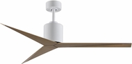 Matthews EK-WH-GA Eliza Contemporary Gloss White Interior/Exterior 56  Ceiling Fan