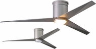 Matthews EKHLK-BN-BN Eliza Contemporary Brushed Nickel w/ Brushed Nickel Blades LED 56  Ceiling Fan