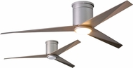 Matthews EKHLK-BN-GA Eliza Contemporary Brushed Nickel w/ Gray Ash Tone Blades LED 56  Ceiling Fan