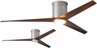 Matthews EKHLK-BN-WN Eliza Contemporary Brushed Nickel w/ Walnut Tone Blades LED 56  Ceiling Fan
