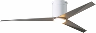 Matthews EKHLK-WH-BN Eliza Modern Gloss White w/ Brushed Nickel Blades LED 56  Home Ceiling Fan