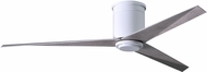 Matthews EKHLK-WH-BW Eliza Contemporary Gloss White w/ Barn Wood Blades LED 56  Ceiling Fan