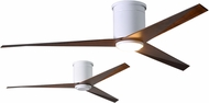Matthews EKHLK-WH-WN Eliza Modern Gloss White w/ Walnut Tone Blades LED 56  Home Ceiling Fan