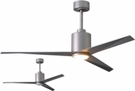 Matthews EKLK-BN-BN Eliza Contemporary Brushed Nickel w/ Brushed Nickel Blades LED 56  Ceiling Fan