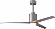 Matthews EKLK-BN-BW Eliza Modern Brushed Nickel w/ Barn Wood Blades LED 56  Home Ceiling Fan