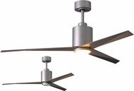 Matthews EKLK-BN-GA Eliza Contemporary Brushed Nickel w/ Gray Ash Blades LED 56  Ceiling Fan