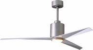 Matthews EKLK-BN-WH Eliza Modern Brushed Nickel w/ Gloss White Blades LED 56  Home Ceiling Fan
