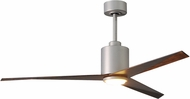 Matthews EKLK-BN-WN Eliza Contemporary Brushed Nickel w/ Walnut Tone Blades LED 56  Ceiling Fan