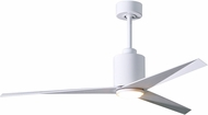 Matthews EKLK-WH-WH Eliza Contemporary Gloss White w/ Gloss White Blades LED 56  Ceiling Fan