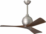 Matthews IR3-BN Irene Modern Brushed Nickel Interior/Exterior 3 Blade Paddle Ceiling Fan