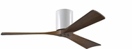 Matthews IR3H-WH-52 Irene Contemporary Gloss White Interior/Exterior 52  3 Blade Hugger-style Paddle Ceiling Fan