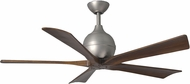 Matthews IR5-BN Irene Contemporary Brushed Nickel Interior/Exterior 5 Blade Paddle Ceiling Fan