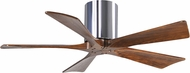 Matthews IR5H-CR-42 Irene Contemporary Polished Chrome Interior/Exterior 42  5 Blade Hugger-style Paddle Ceiling Fan